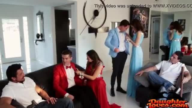 Melissa moore and riley reid her first prom night