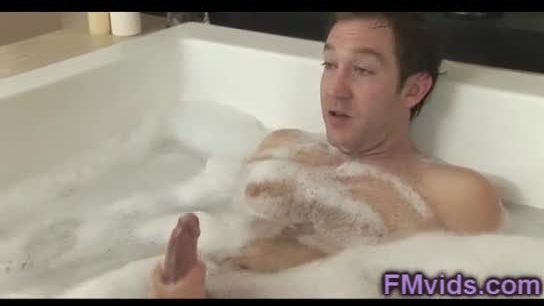 Beautiful stephanie cane plays with cock in the bathtub