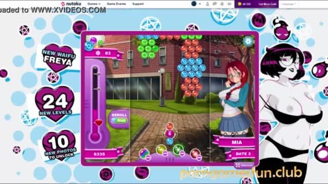 Bubble date mania puzzle sex game